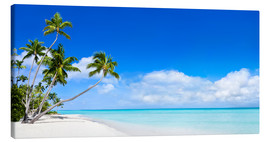 Canvas print  Beach panorama with turquoise sea - Jan Christopher Becke