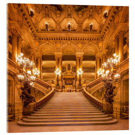 Acrylic glass  Staircase of the Opera Garnier in Paris France - Jan Christopher Becke