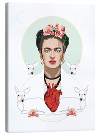 Canvas print  Frida with heart - Anna McKay