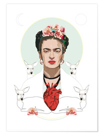 Poster  Frida Kahlo (Light) - Anna McKay
