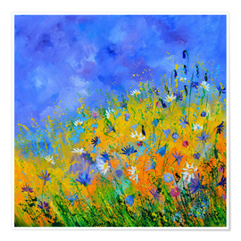 Premium poster Meadow with flowers