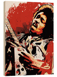 Wood print  Jimi Hendrix - 2ToastDesign