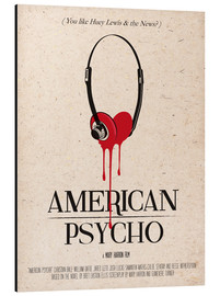 Alu-Dibond  alternative american psycho retro movie poster - 2ToastDesign