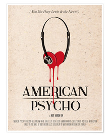 Poster  alternative american psycho retro movie poster - 2ToastDesign