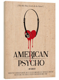 Wood  alternative american psycho retro movie poster - 2ToastDesign