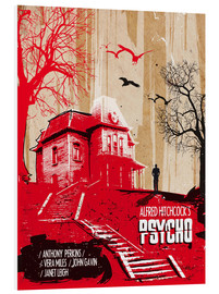 Foam board print  Alfred Hitchcock's Psycho - 2ToastDesign