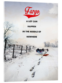 Acrylic glass  alternative fargo retro movie poster - 2ToastDesign