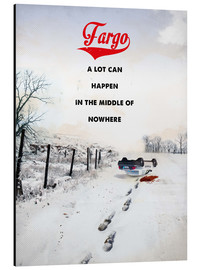 Alu-Dibond  alternative fargo retro movie poster - 2ToastDesign