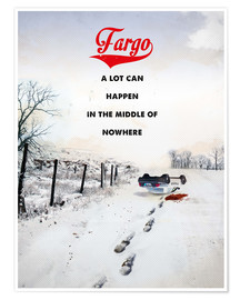 Poster  alternative fargo retro movie poster - 2ToastDesign
