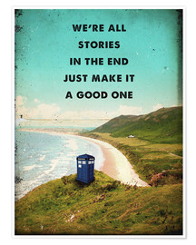 Premium poster  Alternative Dr Who Tardis movie poster - 2ToastDesign