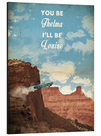 Alu-Dibond  alternative thelma and louise retro movie poster - 2ToastDesign