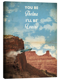 Canvas  alternative thelma and louise retro movie poster - 2ToastDesign