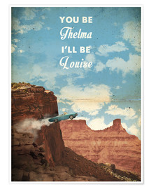 Poster  alternative thelma and louise retro movie poster - 2ToastDesign
