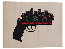 Wood print  Blade Runner pistol - 2ToastDesign
