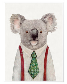 Premium poster  Koala in a tie - Animal Crew