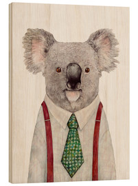 Wood print  Koala in a tie - Animal Crew
