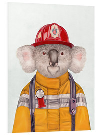 Foam board print  Koala Firefighter - Animal Crew