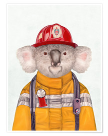 Premium poster  Koala Firefighter - Animal Crew