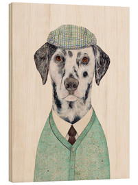Wood print  Sophisticated dalmatian - Animal Crew