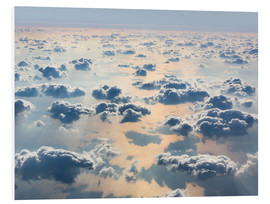 Foam board print  Above the clouds