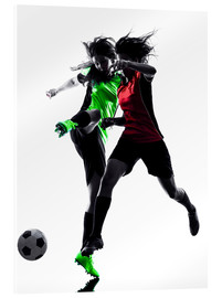 Acrylic print  two soccer players