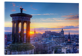 Acrylic glass  Scotland Edinburgh - Calton Hill