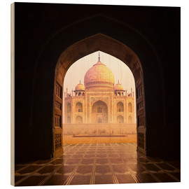 Wood print  Taj Mahal India