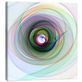 Canvas  Colourful spiral