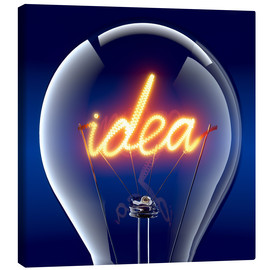 Canvas print  Idea inside a glass bulb