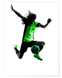 Premium poster  soccer player