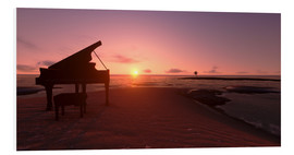 Foam board print  Piano on the beach