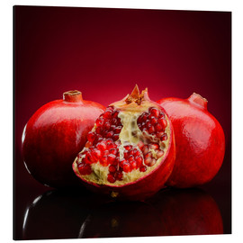 Aluminium print  Red Pomegranate