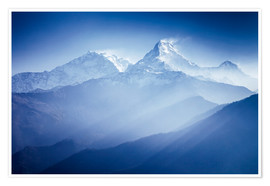 Premium poster Annapurna mountains in sunrise light
