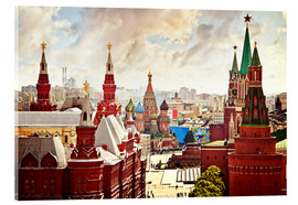Acrylic print  Aerial view of the Kremlin in Red Square, Moscow