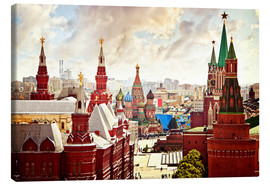 Canvas print  Aerial view of the Kremlin in Red Square, Moscow