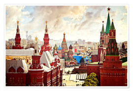 Premium poster  Aerial view of the Kremlin in Red Square, Moscow