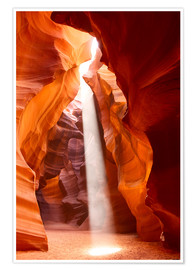 Premium poster  Sunbeam in Antelope Canyon, Arizona
