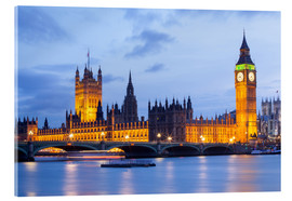 Acrylic print  Big Ben and Westminster Bridge, London