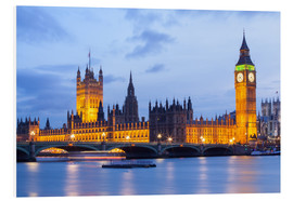 Foam board print  Big Ben and Westminster Bridge, London