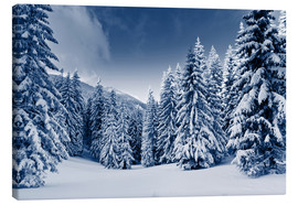 Canvas print  Winter landscape with snow covered trees