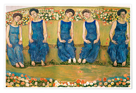 Premium poster  The Holy Hour - Ferdinand Hodler
