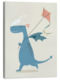 Canvas print  Dragon flies a kite - Sandy Lohß