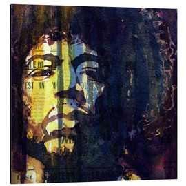 Aluminium print  Jimmy Hendrix - Paul Lovering Arts
