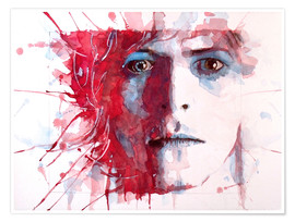 Premium poster  The prettiest star : David Bowie - Paul Lovering Arts
