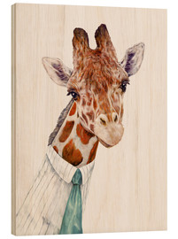 Wood print  Giraffe - Animal Crew