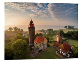 Acrylic glass  Dahme Lighthouse Baltic Sea Aerial View - Dennis Stracke