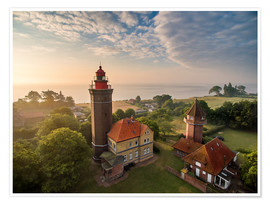 Premium poster Dahme Lighthouse Baltic Sea Aerial View