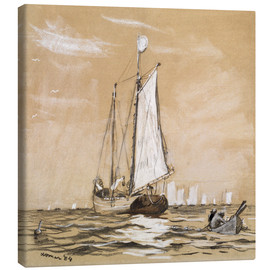 Canvas print  A Fishing Schooner - Winslow Homer