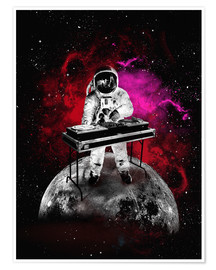 Premium poster  alternative space astronaut dj art poster - 2ToastDesign