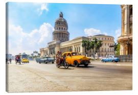 Canvas print  Havana Capitol with Oldtimer - Reemt Peters-Hein
